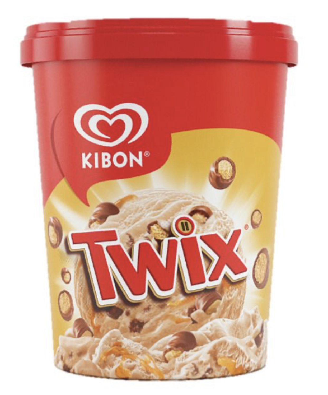 Kibon e TWIX® junto e misturado